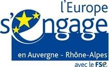 Logo l'europe s'engage en auvergne Rhône Alpes